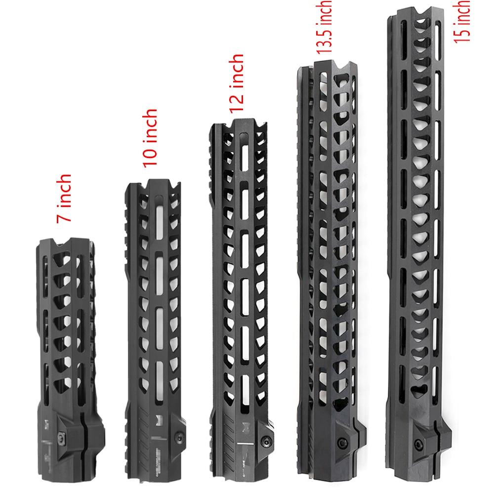 ยุทธวิธีฟรีFloat MLOK Handguard Picatinny Railสแควร์ปากสำหรับAR Seriesปืนประเภทการล่าสัตว์Handguards