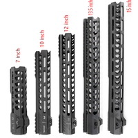 Tactical Free Float MLOK Handguard Picatinny Rail Square Mouth for AR Series Gun Types for Hunting Handguards