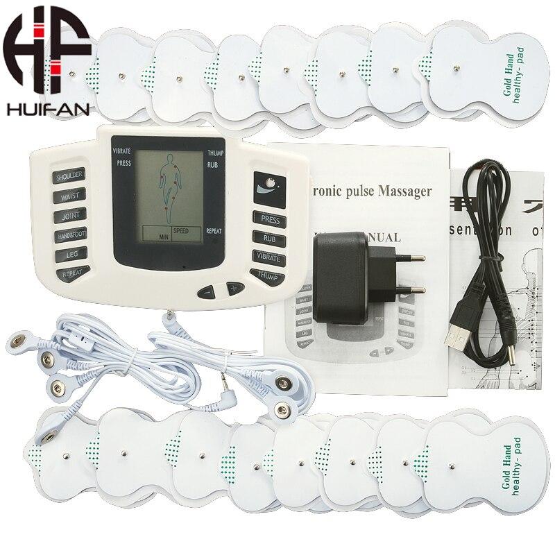 HUIFAN терапия физиотерапия десятки машина электрод Pad облегчение боли импульсный массаж EMS стимуляция мышц с 8 подушечками
