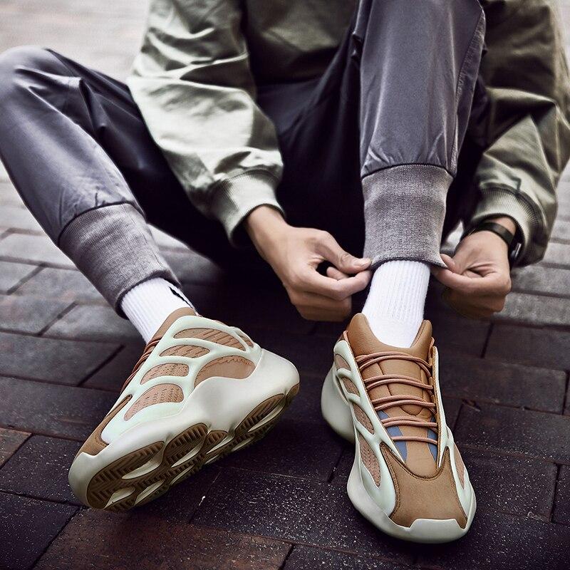 Sapatos masculinos fashions tênis 700 tênis de corrida masculino velocidade malha original luxo treinador tênis corrida dos homens respirável sapatos casuais - 5