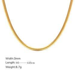 FXM collar de acero inoxidable venta caliente oro color popular mujeres solteras 3mm Simple base collar amante regalo mujer joyería