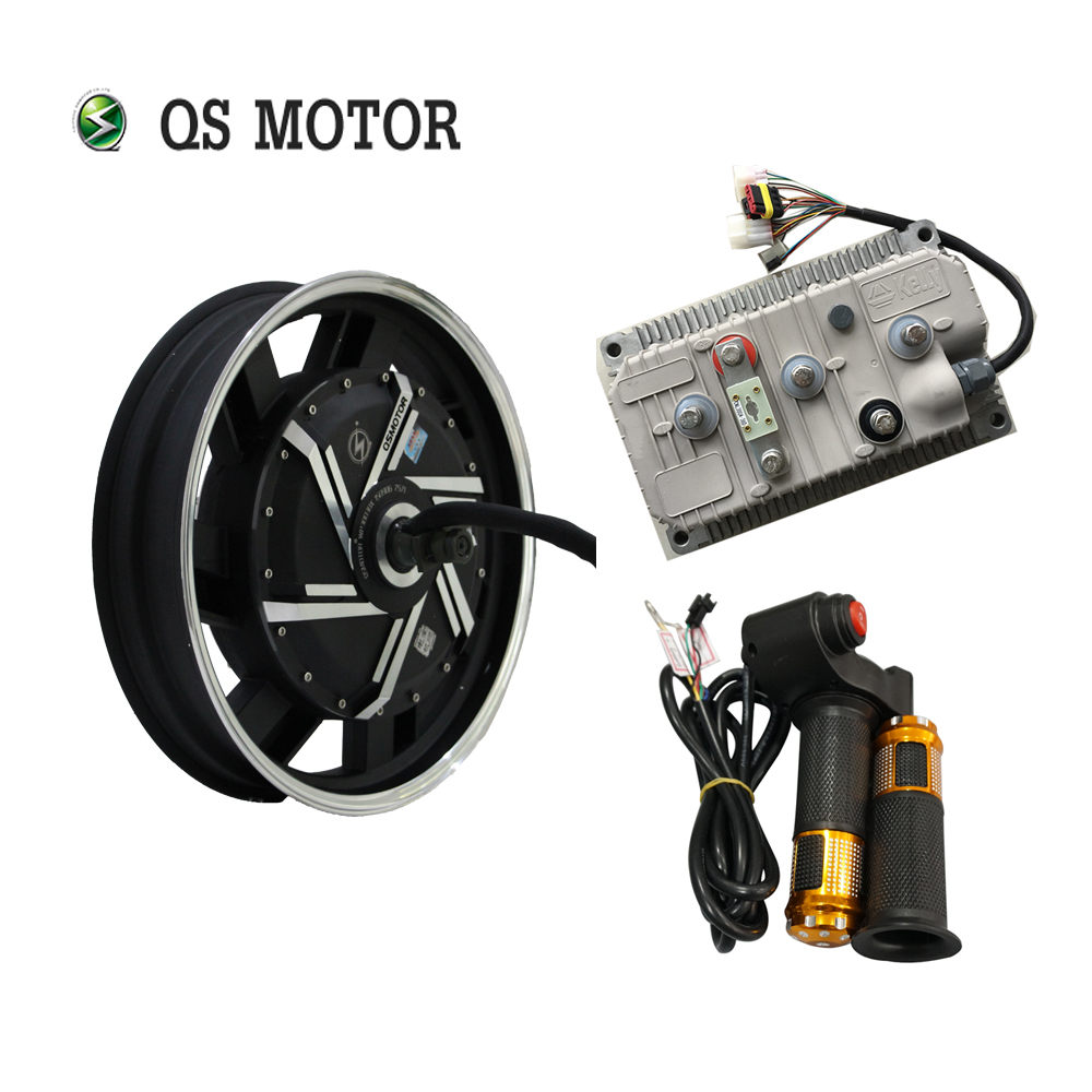 QS MOTOR 17inch 8000W 273 50H V3 20kW Peak Brushless DC Electric Scooter Motorcycle Hub Motor Kits With Kelly Controller
