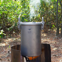 Keith Multifunctional Rice Cooker Titanium Pot Outdoor Camping Portable Light Portable Titanium Alloy Cooker цена и фото