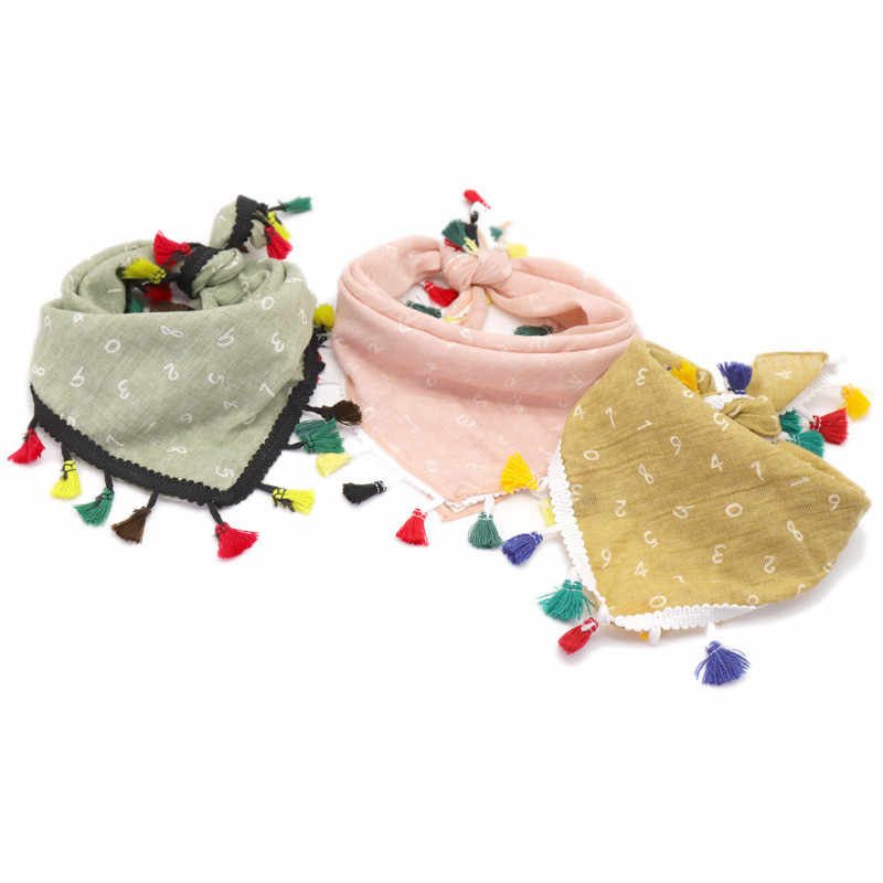 30/50pcs New Color Beard Triangle Scarf Cotton Letter Colored Square Scarf Triangular Bandage  Adjustable Pet Dog  Scarf Collar