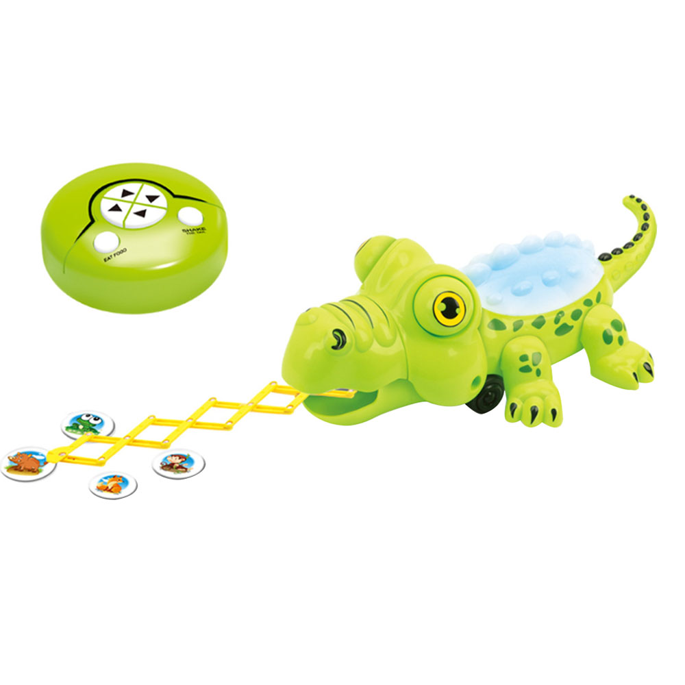 2.4G Wireless Remote Control Electric Crocodile Toy With Light Sound  RC Predator Educational Interest Development Toy For Kids