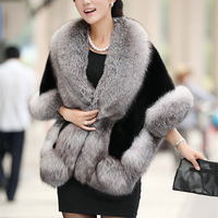 2019 Winter Leather Grass Fox Fur Mink Rabbit Fur Poncho Cape Bridal Wedding Dress Shawl Cape Women Vest Fur Coat