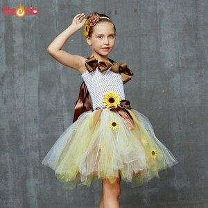 Image 2 - Платье пачка с подсолнухами и цветочным принтом