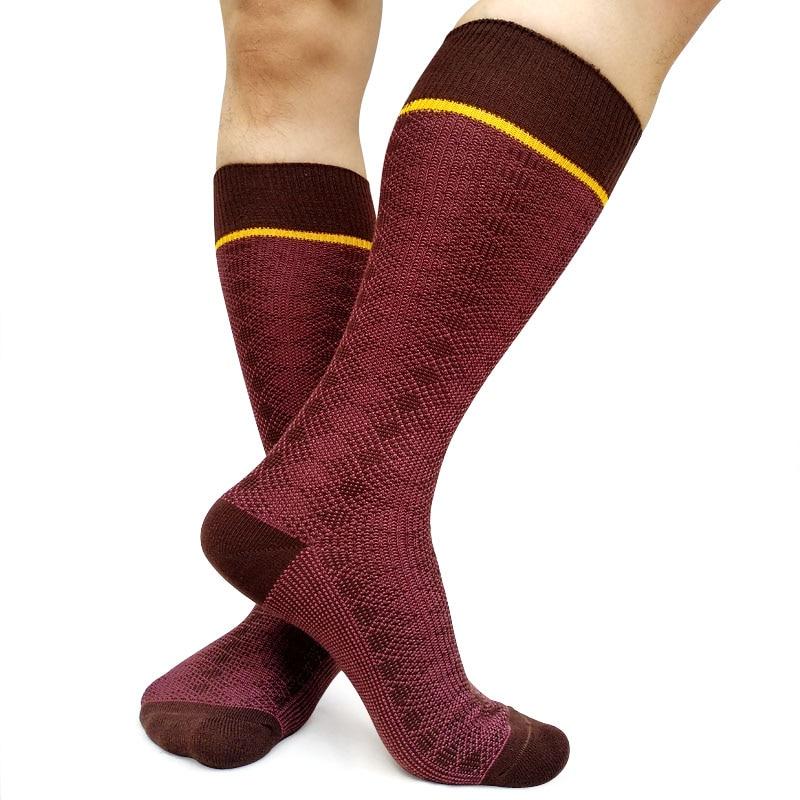 Mens Vintage Style Knit Wool Warm Fall Winter Gentleman Business Crew Dress Socks