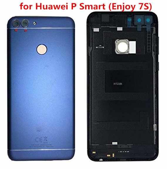 Huawei P akıllı için arka pil kapağı arka kapı konut Case Huawei için 7S P akıllı pil kapağı kamera Lens ile