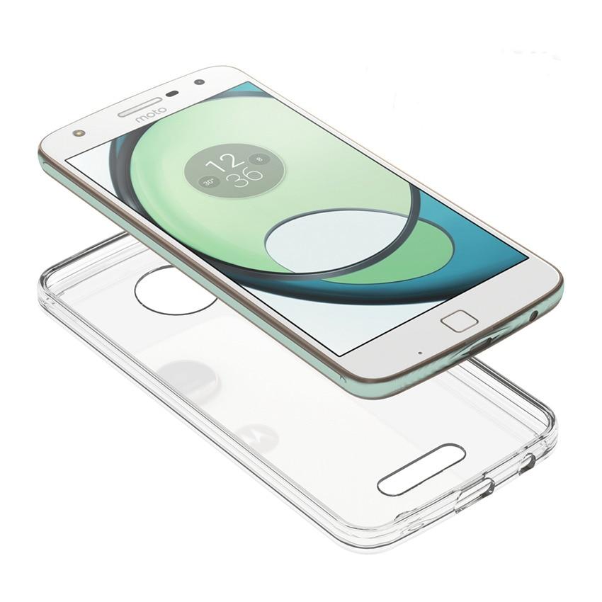 Motorola Moto Z Play Fundas Coque üçün nazik hibrid şoka davamlı - Cib telefonu aksesuarları və hissələri - Fotoqrafiya 5