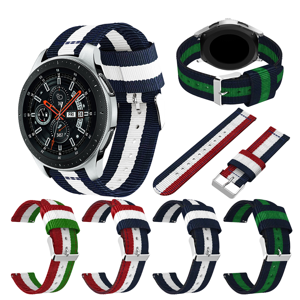 For Samsung Galaxy 46mm Band Samsung Vertical Strip Nylon Strap 22mm For Samsung Gear S3 Wristband Smart Watch Strap Accessories