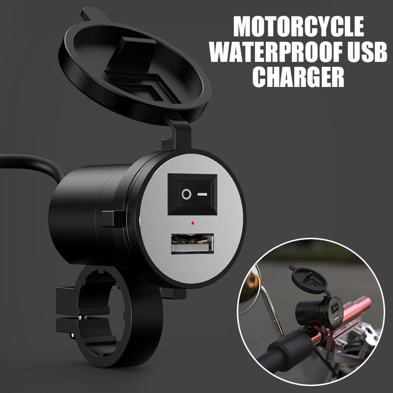 Vehemo Charger Socket Waterproof 12V Motorcycle Handlebar Auto Charger Adaptive Phone Car Quick Charger Adapter Universal