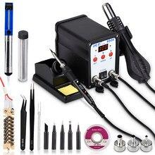 JCD-Station numérique de soudage 750 8908 W LCD 2 en 1, machine de réparation de soudage, fer à souder avec pistolet à air chaud, remontage cms BGA
