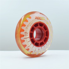 【Special Promotion】【72mm】【80A】【8pcs/set】 ROCES kid's skating wheel,yellow blue gray and red translucent candy colors slide wheel