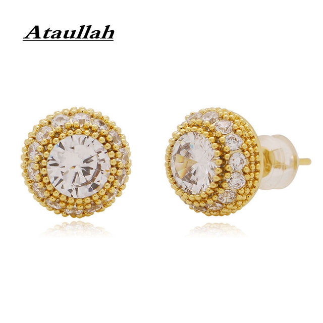 Ataullah Shiny Full Crystal Stud Earrings Hip Hop Accessories 3A zircon Round Mushroom Design Earring For.jpg 640x640 - Ataullah Shiny Full Crystal Stud Earrings Hip Hop Accessories 3A zircon Round Mushroom Design Earring For Woman and Men EW064