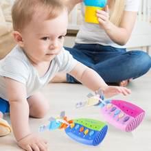 Bebê musical flash chave brinquedo colorido inteligente remoto carro vozes vocal fingir jogar música cedo brinquedos educativos para crianças presentes