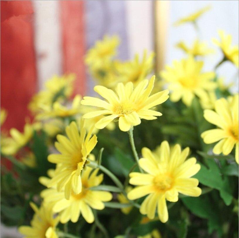flores artificiais daisy flor campo rural flor 04