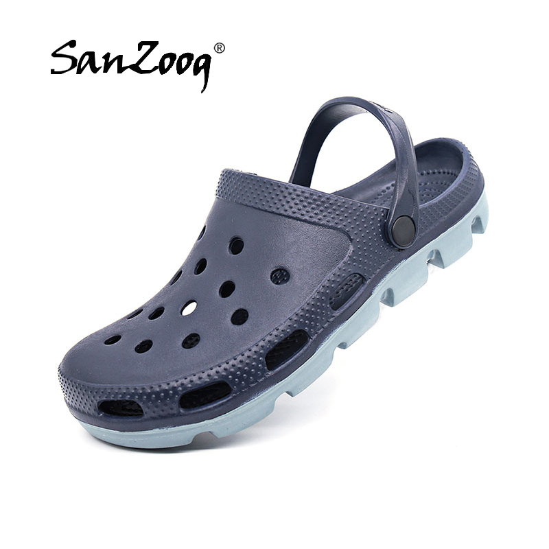 Summer 2019 Outdoor Slip On Men Beach Sandals Mens Clogs Garden Shoes Crox Sandal Man Clog Zuecos Hombre Cholas Plus Size 48 49