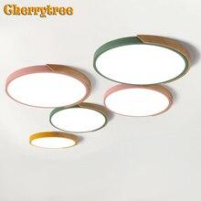 מודרני LED תקרת אורות אולטרה דק תקרת מנורת נורדי Dimmable סלון חדר שינה אוכל חדר צמודי אור קבועה