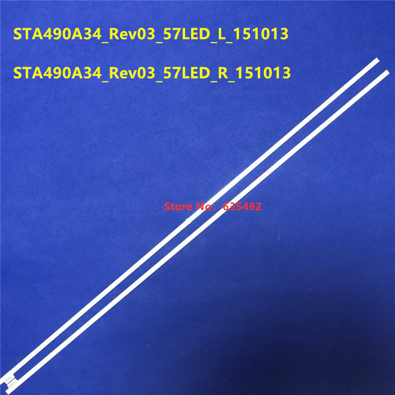 100% New 1Set=2PCS(R+L)  LED Backlight Strip 57 Lamps  STA490A34_Rev03_57LED_L_151013  STA490A34_Rev03_57LED_R_151013