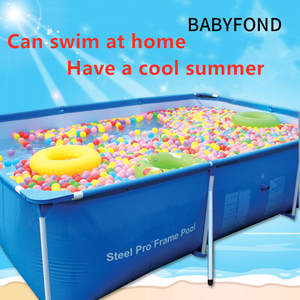 Paddling Pool Swimming-Pool-Square Adult Inflatable Child Oversized-Mount