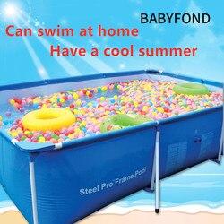 Большой плавательный бассейн с креплением, большой Детский бассейн для взрослых, плавательный бассейн, квадратный надувной бассейн