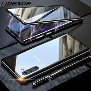 Image 1 - 양면 유리 자석 케이스 10 9 8 S10 S8 S9 플러스 S10e A50 A70 A60 A51 A71 마그네틱 360