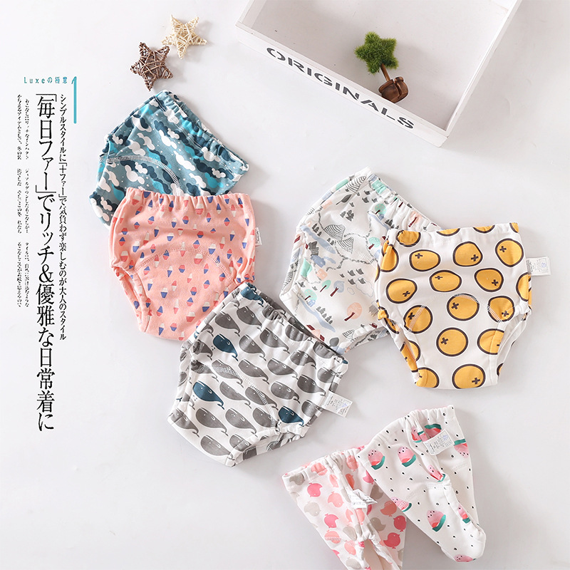 Baby  training underwear leak-proof washable diaper pants waterproof diapers cotton baby toilet learning pocket