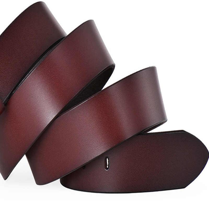 Di alta Qualità degli uomini della cinghia maschio di alta qualità di cuoio degli uomini della cinghia maschio cinturino in vera pelle di lusso pin fibbia fantasia dell'annata dei jeans