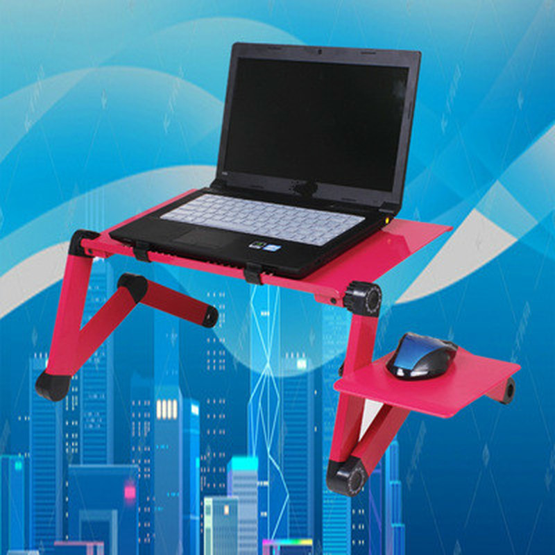 Notebook Desk Portable Mobile Laptop Standing Desk For Bed Sofa Laptop Folding Table With Mouse Pad & Cooling Fan For Office