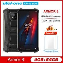 Ulefone Armor 8 6.1 ''Robuuste IP68/IP69K Android 10 4Gb 64Gb Smartphone 5580Mah 16MP Octa core Waterdichte Nfc Mobiele Telefoon
