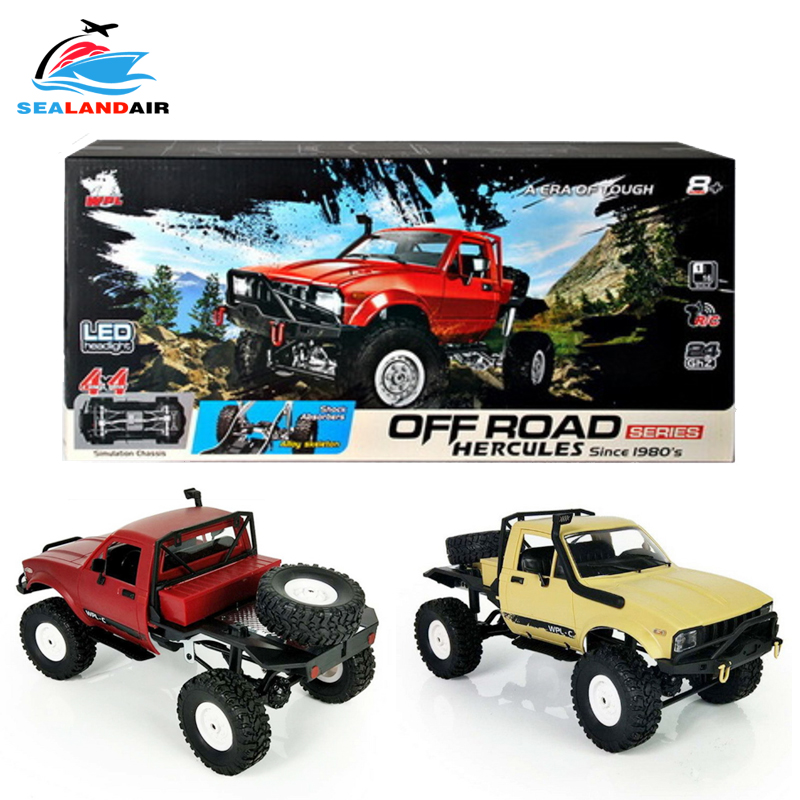 WPL C14 C-14 1:16 voiture RC sans fil 4WD 2.4GHz à distance Contral chenille voitures tout-terrain Buggy modèle jouets pour enfants cadeaux Carro RTR