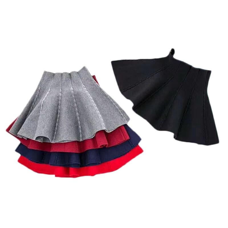 Knit Skirts for girls Fashion Children's Skirt Little Girls Autumn Winter Short Tutu Skirt for Girl Birthday Party Girl Clothing 1
