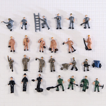 25pcs 1/87 Ho Scale Miniature Workers Model-Train Landscape DIY Architectural Figures Railway People with Ladders for Diorama 10 pcs road landscape tree model train model train ho scale 1 87 modelspoor ho treinen modelspoor ho diorama лего