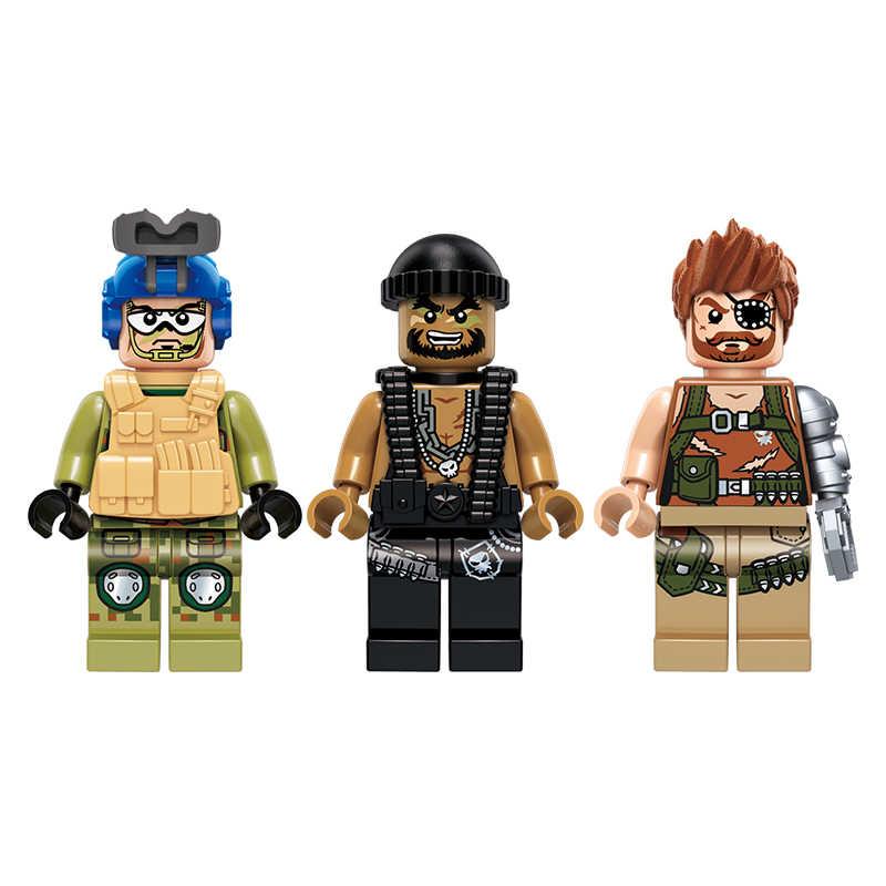 להאיר חדש צבאי חינוכיים אבני בניין לערום צעצוע ילדי מתנה צבא Jeep צלף נשק בלתי כוח Minigun