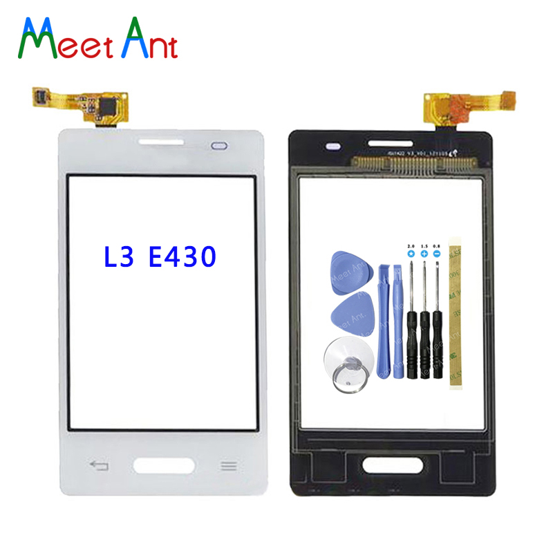 Replacement high Quality 3.2 For LG Optimus L3 II E430 E425 and Dual E435 Touch Screen Digitizer Sensor Outer Glass Lens Panel image