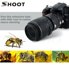 SHOOT Auto Focus Macro Extension Tube Ring Set for Nikon D3200 D3300 D5600 D7100 D5300 D7200 D7500 D3100 D90 D5100 D5500 D4 DSLR