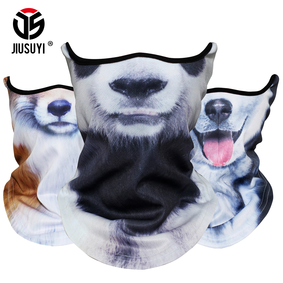 3D Animal Scarf Neck Warmer Tube Bicycle Winter Snowboard Balaclava Halloween Headband Party Dog Panda Windproof Men Women 2020