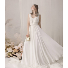 Verngo Boho Wedding Dress Chiffon Simple Gowns Vintage Beach Bride Vestido Noiva Trouwjurk