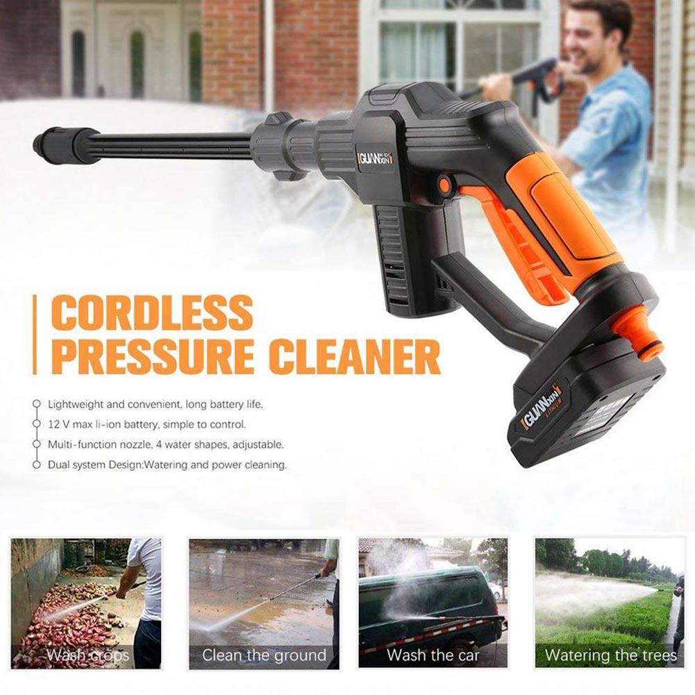Wireless Car Washing Machine Lithium Battery Charging Portable Water Gun With Water Pipe Auto Wash Tools Car Cleaning Parts