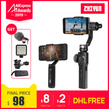 Zhiyunスムーズ4スマートフォンハンドヘルド3軸ブラシレスジンiphone 5/6/7 × のgoproアクションカメラpk osmo 2