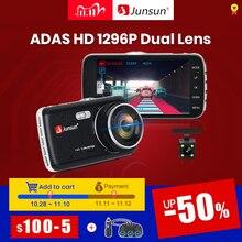 Junsun H7 עדס 1296P HD רכב DVR מצלמה מצלמת דאש 4 אינץ IPS כפולה עדשת 1080P וידאו מקליט registrator ראיית לילה רכב Dvrs