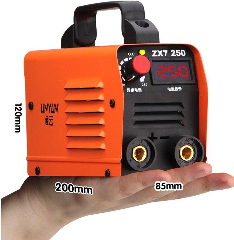 Компактный мини MMA сварочный аппарат 250A 110-250V Инвертор стержень для дуговой сварки сварочный аппарат