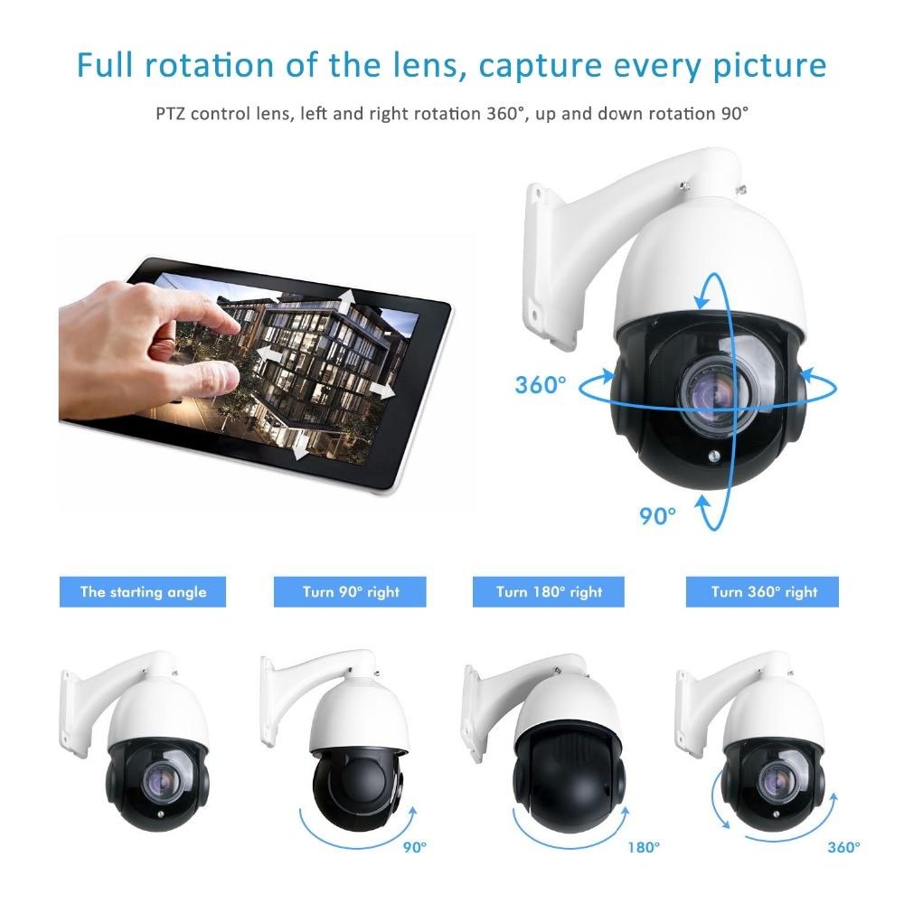 Caméra de Surveillance dôme extérieure PTZ IP POE 8MP/4K, dispositif de sécurité sans fil, avec ZOOM x30 et protocole Onvif 7