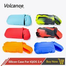 Volcanee kolorowe silikonowy pokrowiec przeciwpyłowy ochronna dla IQOS krzemu pokrywa dla IQOS 2 4 Box Mod E papieros Vape akcesoria tanie tanio Dekoracyjne Ochrony Band Okładki Torba Case for IQOS 2 4 Vape Accessories 1pc lot