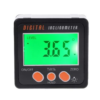 SHANWEN Digital Inclinometer LCD Electronic Protractor Aluminum Alloy Shell Bevel Box Angle Gauge Meter Measuring Tool 4 x 90°
