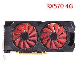 Carte graphique GPU RX 570 4GB 256Bit GDDR5 cartes graphiques pour AMD RX 500 série VGA cartes RX570 DisplayPort 470 480 580 560 utilisé