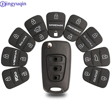 Rubber-Pad Remote-Key-Shell Flip Hyundai I30 3-Buttons Key-Cover Replacement Jingyuqin