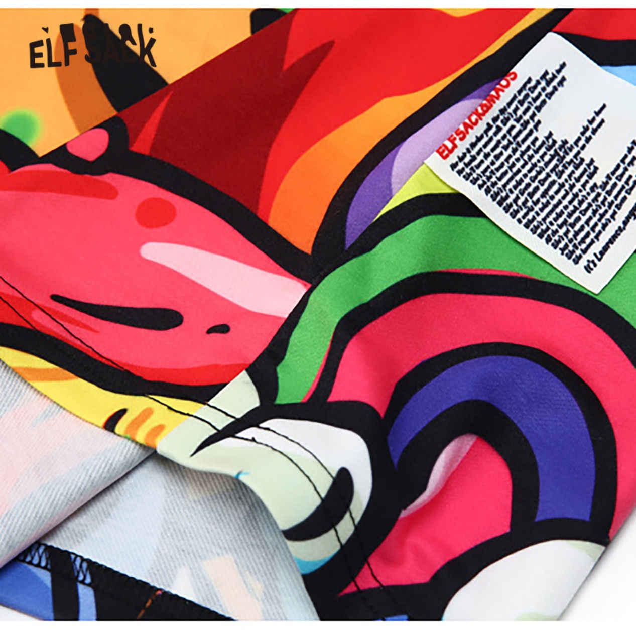 فستان ELFSACK ملون بجيوب ورقبة مستديرة للنساء موضة صيف 2020 فساتين جديدة غير رسمية بأكمام قصيرة للمكتب للسيدات فساتين خاصة