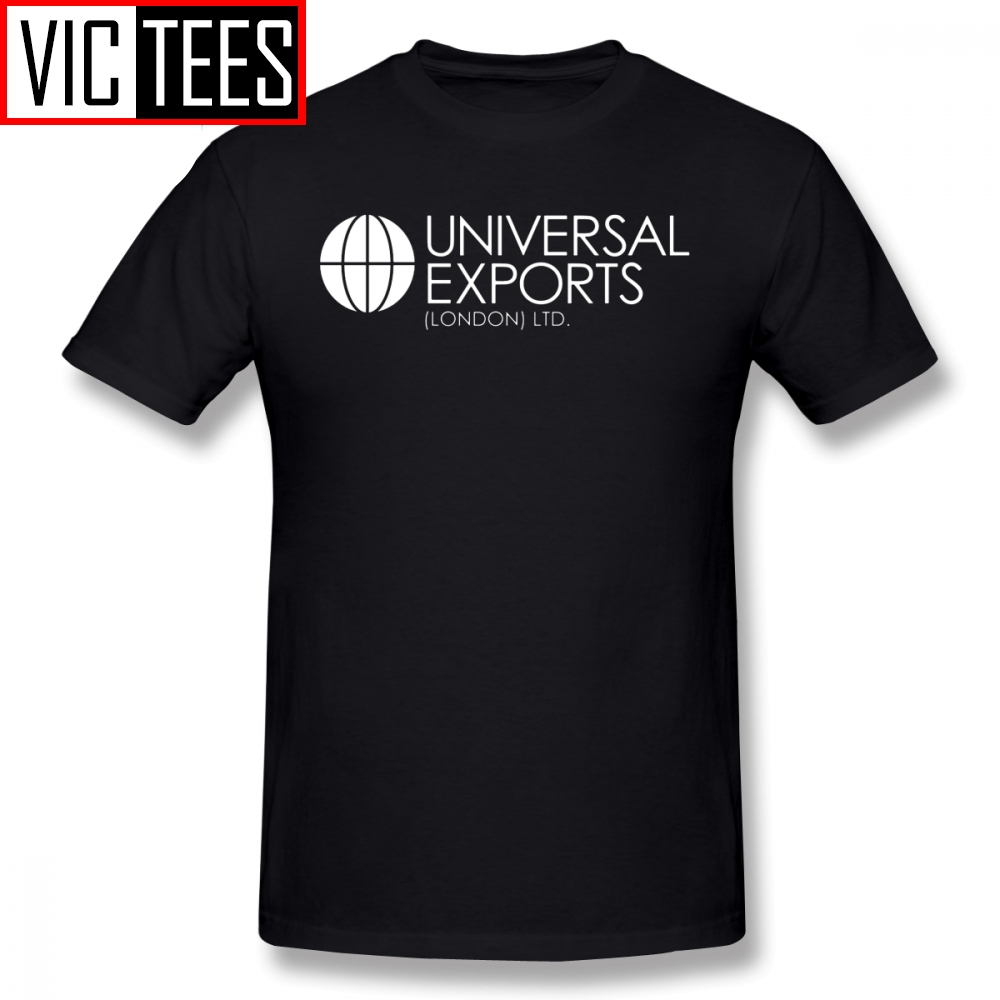 Mens James Bond T Shirts James Bond Universal Exports London Ltd T-Shirt Man Printed Tee Shirt Classic Cotton Tshirt
